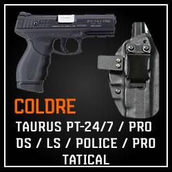 Coldre Magnum Velado Interno Iwb em kydex - PT-24/7 PRO DS/ LS/ POLICE/ TATICAL