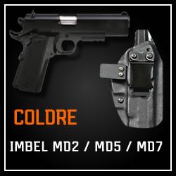 Coldre Magnum Velado Interno Iwb em kydex - Imbel MD1/MD2 (XODÓ) / MD2, MD5, MD7 (demais modelos)
