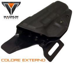 Coldre Magnum EXTERNO Ostensivo Owb em kydex - IMBEL MD2/ MD5/ MD7
